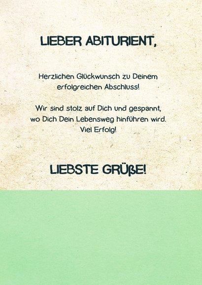 Glückwunschkarte zum Abitur Globus und Bücher 3