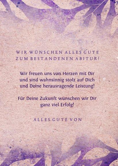Glückwunschkarte zum Abitur Vintage 3