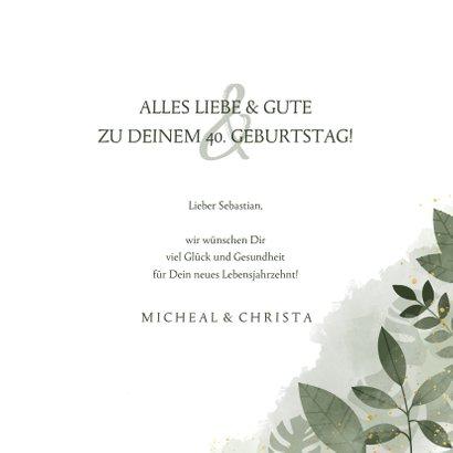 Glückwunschkarte zum Geburtstag Botanisch 3