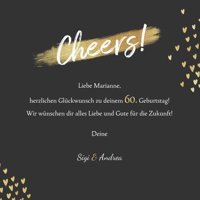 Glückwunschkarte zum Geburtstag Cheers Herzchen 3