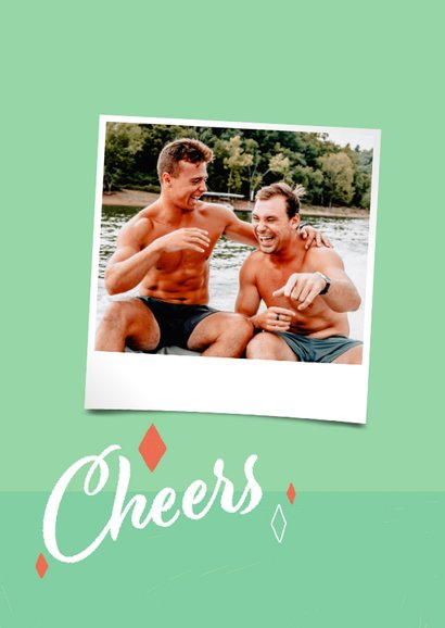 Glückwunschkarte zum Geburtstag 'Cheers to you' 2