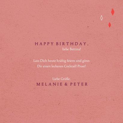 Glückwunschkarte zum Geburtstag 'Cheers' 3