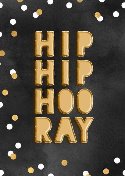 Glückwunschkarte zum Geburtstag Hip hip hooray 2