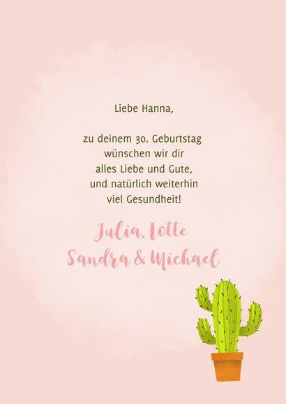 Glückwunschkarte zum Geburtstag Kaktus Lass dich drücken 3