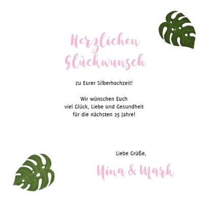 Glückwunschkarte Zum Hochzeitstag Mit Foto Pflanzen