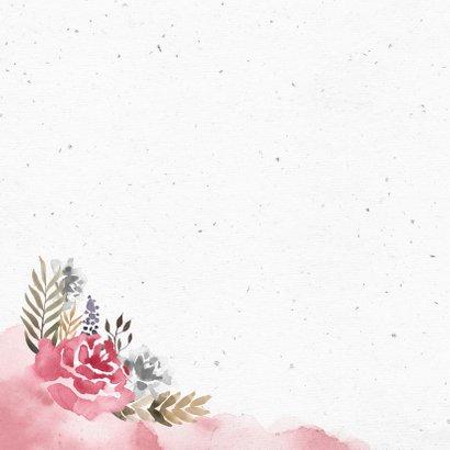 Glückwunschkarte zum Hochzeitstag Rosen 2