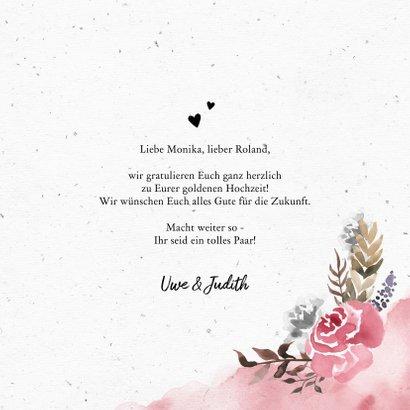 Glückwunschkarte zum Hochzeitstag Rosen 3