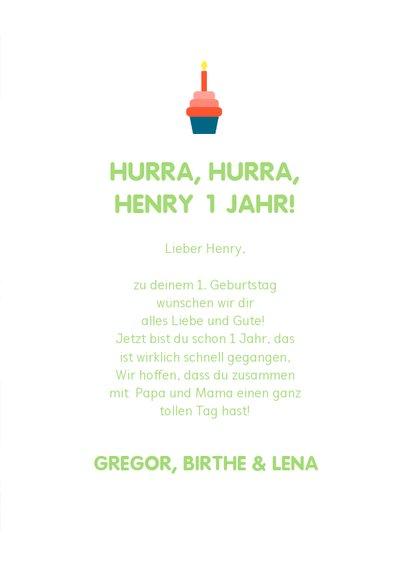 Glückwunschkarte zum Kindergeburtstag Dinos mit Ballon 3