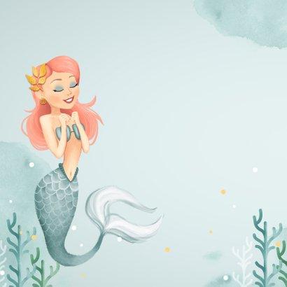 Glückwunschkarte zum Kindergeburtstag Meerjungfrau und Foto 2
