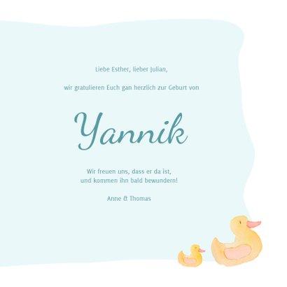 Glückwunschkarte zur Geburt Bär mit Seifenblasen 3