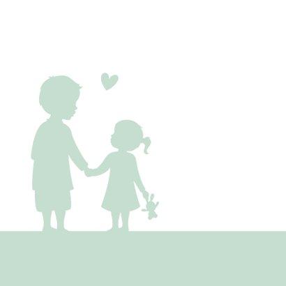 Glückwunschkarte zur Geburt kleine Schwester großer Bruder 2