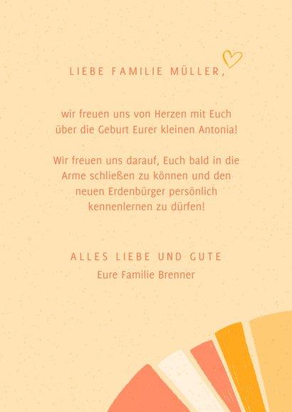 """Glückwunschkarte zur Geburt mit Lettering """"Baby"""" 3"""