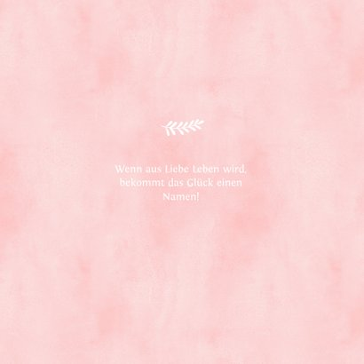 Glückwunschkarte zur Geburt rosa Füße 2