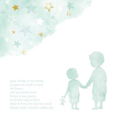 Glückwunschkarte zur Geburt Sohn / kleiner Bruder 2