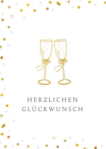Glückwunschkarte zur goldenen Hochzeit Sektgläser 2