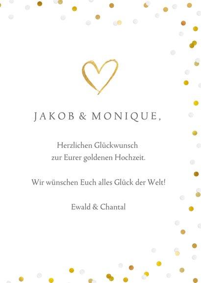 Glückwunschkarte zur goldenen Hochzeit Sektgläser 3