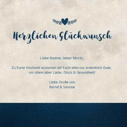 Glückwunschkarte zur Hochzeit Brautpaar in Mondschein 3