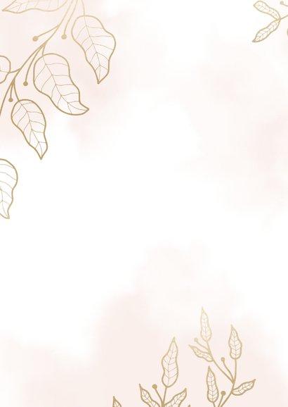 Glückwunschkarte zur Hochzeit filigrane Blätter 2