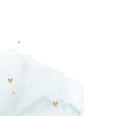 Glückwunschkarte zur Hochzeit Holzschilder und Herzen 2