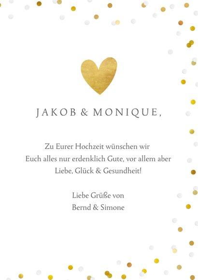 Glückwunschkarte zur Hochzeit Tauben mit Herz 3