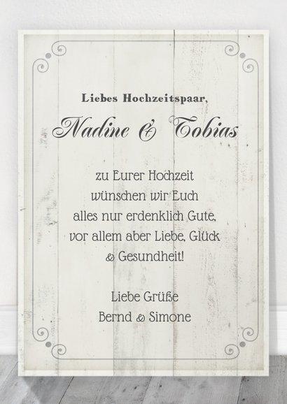 Glückwunschkarte zur Hochzeit weiß brocante 3