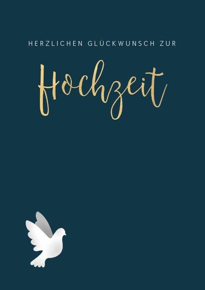 Glückwunschkarte zur Hochzeit Weiße Tauben 2