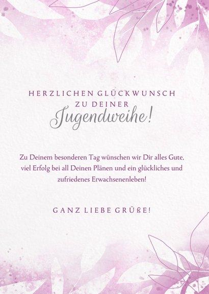 Glückwunschkarte zur Jugendweihe Floral 3
