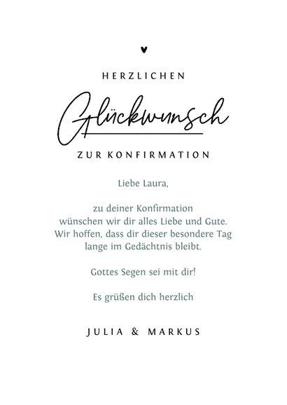 Glückwunschkarte zur Konfirmation / Kommunion 3