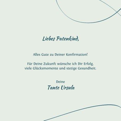 Glückwunschkarte zur Konfirmation mit Lettering 3