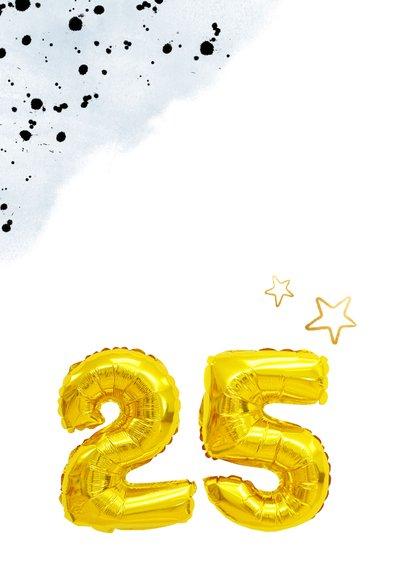 Glückwunschkarte zur Silberhochzeit mit Zahlenballon 2