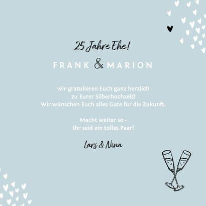 Glückwunschkarte zur Silberhochzeit Twentyfive 3