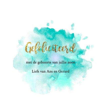 gouden confetti felicitatiekaart 3