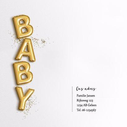 Gouden letter ballonnen en glitter Boy 2