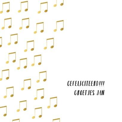 Gouden muziekkaart verjaardag 3