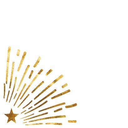 Gouden vuurwerk nieuwjaarskaart 2