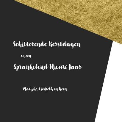 Grafische kerstkaart aanpasbare achtergrondkleur met goud 3