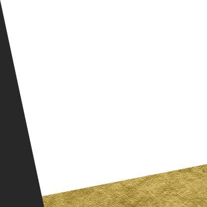 Grafische kerstkaart aanpasbare achtergrondkleur met goud Achterkant