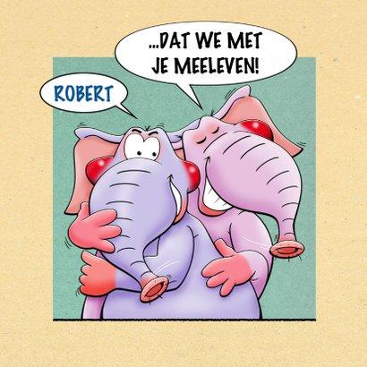 Grappige beterschapskaart met olifanten voor collega 3