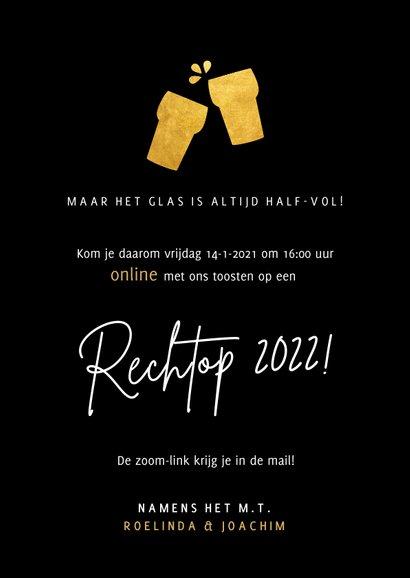 Grappige Corona nieuwjaarsborrel kaart - online uitnodiging  3