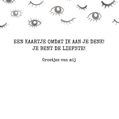 Grappige 'Eye see you' kaart met ogen.  Voor elk moment. 3