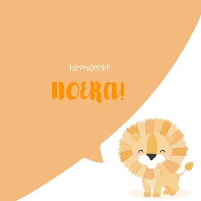 Grappige felicitatiekaart met het gezicht van een leeuw 3
