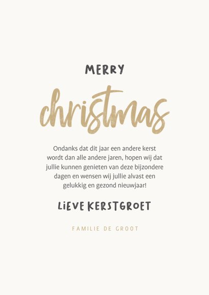 Grappige kerstkaart i'm staying home for christmas 3