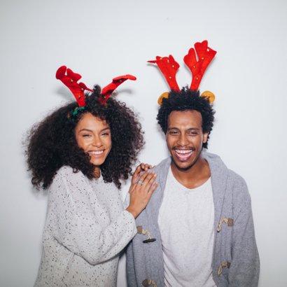 Grappige kerstkaart - Maak een Elf van jezelf - 2 personen 2
