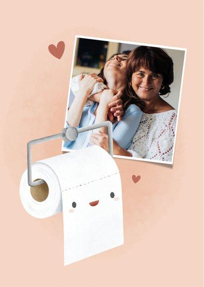 Grappige moederdag kaart wc rol 'Mam je bent mijn rolmodel' 2