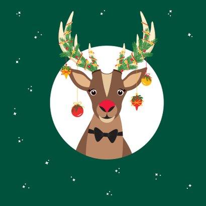 Grappige Rudolf het Rendier wenst je een fijne feestdagen 2