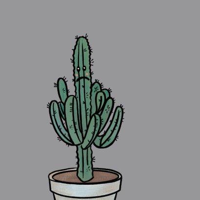 Grappige sorry kaart met verdrietige cactus in pot 2