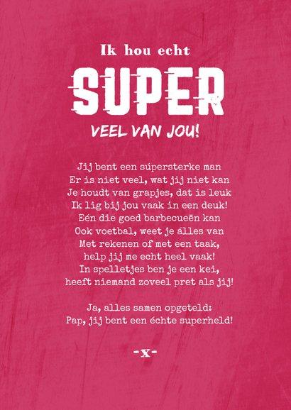 Grappige Vaderdag aart superman super papa foto 3