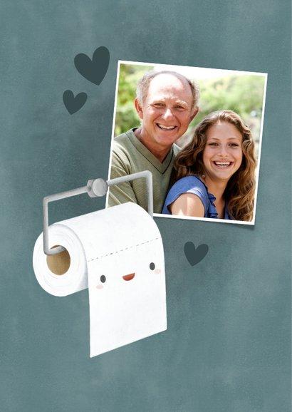 Grappige vaderdag kaart wc rol 'Pap je bent mijn rolmodel' 2