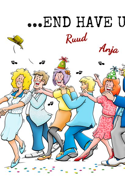 Grappige verjaardagskaart Happy Burshdee To Yoe polonaise 2