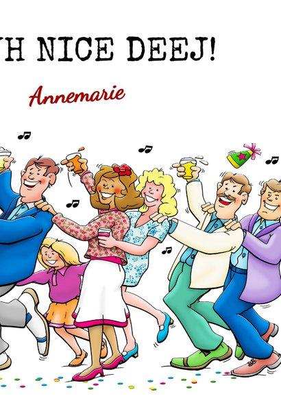 Grappige verjaardagskaart Happy Burshdee To Yoe polonaise 3